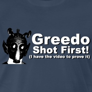Star Wars - Greedo Shot First - Men's Premium T-Shirt