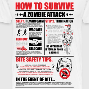 How to survive a zombie attack - Men's Premium T-Shirt