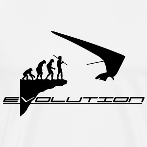 hanggliding evolution BLACK LOGO - Men's Premium T-Shirt