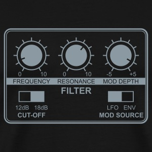 Synth Filter with Knobs - Men's Premium T-Shirt