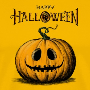Happy Halloween Jack O'Lantern Adult Orange Tshirt - Men's Premium T-Shirt