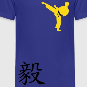 Meaning of Black Belt: Perseverance royal blue kids T shirt - Kids' Premium T-Shirt