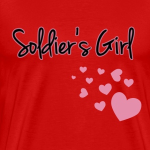 Soldier's Girl with Hearts - Men's Premium T-Shirt