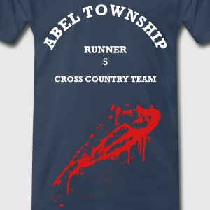 Abel Township Cross Country Team (light & bloody) - Men's Premium T-Shirt
