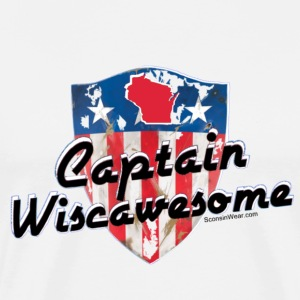 Sconsinwear Captain Wiscawesome T-Shirts - Men's Premium T-Shirt