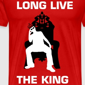 KLIFF KINGSBURY LONG LIVE THE KING TEE - GREY - Men's Premium T-Shirt