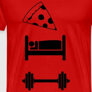 Eat, Sleep Train Symbols - Men's Premium T-Shirt