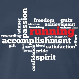 RUNNING WORD CLOUD - Men's Premium T-Shirt