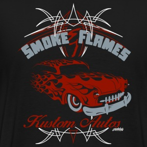 Smoke and Flames Kustom Autos - Men's Premium T-Shirt