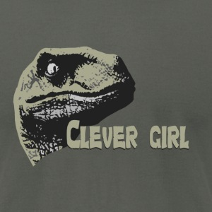 Clever girl. - Men's T-Shirt by American Apparel