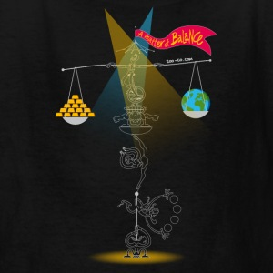 Black A Matter of Balance Kids' Shirts - Kids' T-Shirt