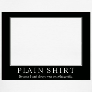 Plain Shirt - Men's Ringer T-Shirt