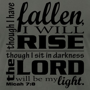 Rise Up - Micah 7:8 - Men's T-Shirt by American Apparel