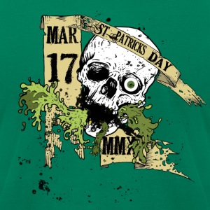 2010 St Patty's Day Skull Drunkery - Men's T-Shirt by American Apparel