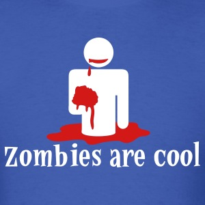 Royal blue zombies are cool T-Shirts - Men's T-Shirt