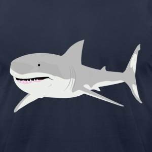 Navy shark T-Shirts - Men's T-Shirt by American Apparel