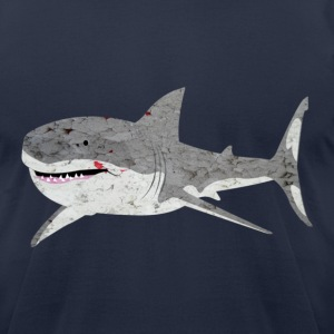Navy great white shark T-Shirts - Men's T-Shirt by American Apparel