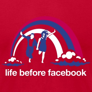 Life Before Facebook - Men's T-Shirt by American Apparel