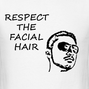 FACIAL HAIR BLACK (MEN'S) - Men's T-Shirt