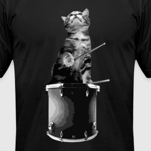 Drumkitten.com shirt - Men's T-Shirt by American Apparel