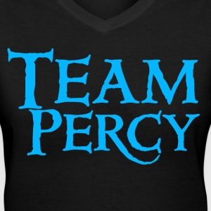 Team Percy V-neck (Women Blue) - Women's V-Neck T-Shirt