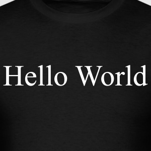 Hello World - Fortran66 (on front) - Men's T-Shirt