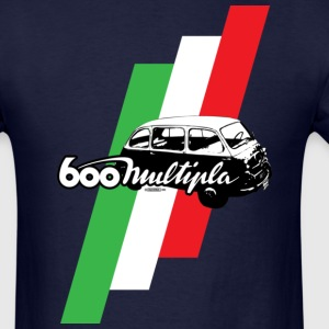 Fiat 600 Multipla script and illustration - AUTONAUT.com - Men's T-Shirt