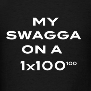 my swagga on a - Men's T-Shirt