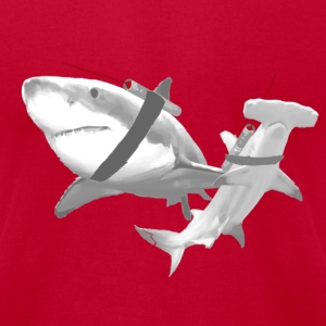 Sharks with Lasers - Men's T-Shirt by American Apparel