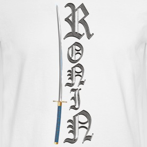 Old English Ronin with Sword Log Sleeve T-Shirt - Men's Long Sleeve T-Shirt
