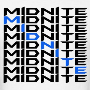 MiDNiTE T-Shirt Black Font - Men's T-Shirt