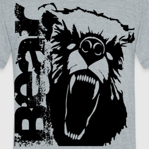 Growley Bear black/gray - Unisex Tri-Blend T-Shirt by American Apparel