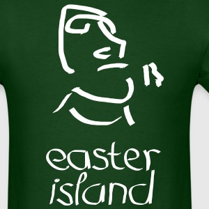Easter Island Moai Ancient Shirt (Text) - Men's T-Shirt