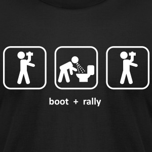 Boot and Rally - Men's T-Shirt by American Apparel