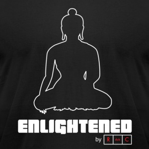 Enlightened by RdubC - White graphic - Men's T-Shirt by American Apparel