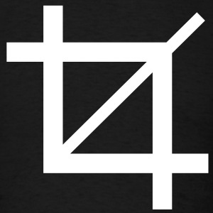 Crop tool symbol - Men's T-Shirt
