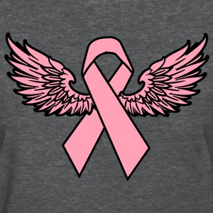 Winged Breast Cancer Awareness Ribbon Women's T-Shirts - Women's T-Shirt
