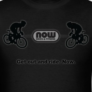 Stealth Black Now Bikes shirt - Men's T-Shirt
