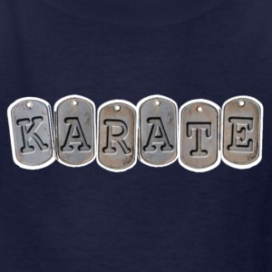 Kids Karate T Shirt with Army dog tag design - Kids' T-Shirt