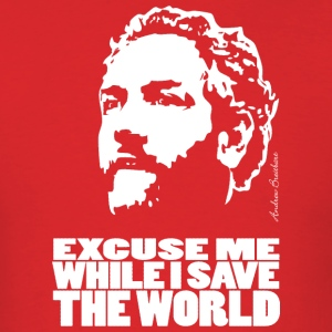 Breitbart - Excuse me while I save the world - shirt, red - Men's T-Shirt