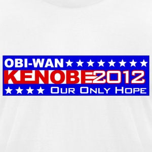 Obi-Wan Kenobi 2012 Our Only Hope Shirt - Men's T-Shirt by American Apparel