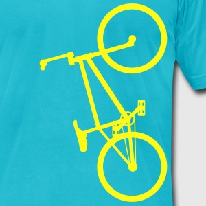 BMX Yellow- American Apparel AA Shirt (M) - Men's T-Shirt by American Apparel