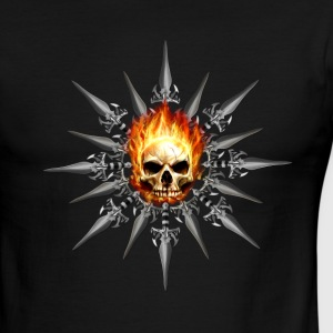 Skull with Knives - Men's Ringer T-Shirt