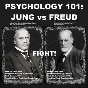 PSYCHOLOGY 101: JUNG vs FREUD - Women's T-Shirt