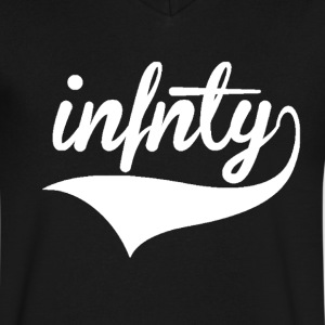 Infnty Vneck - Men's V-Neck T-Shirt by Canvas