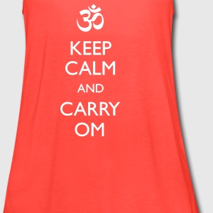 KEEP CALM AND CARRY OM Yoga Racerback Tank For Women - Women's Flowy Tank Top by Bella