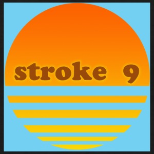 stroke 9 sunset ringer in blue - Men's Ringer T-Shirt