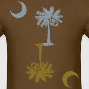 SC Palmetto Flag - Metallic Silver & Gold - Men's T-Shirt