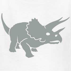 White kids_dino_us Kids Shirts - Kids' T-Shirt