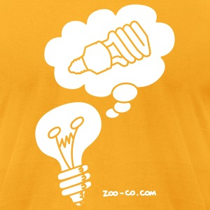 Gold Eco Idea T-Shirts - Men's T-Shirt by American Apparel